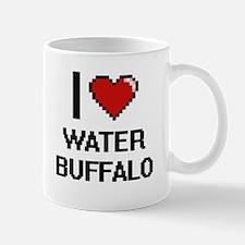 I love Water Buffalo digital design Mugs