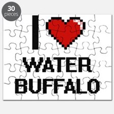 I love Water Buffalo digital design Puzzle
