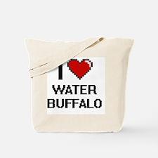I love Water Buffalo digital design Tote Bag