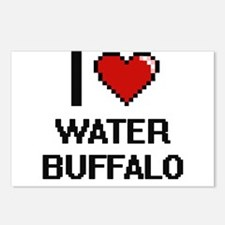 I love Water Buffalo digi Postcards (Package of 8)