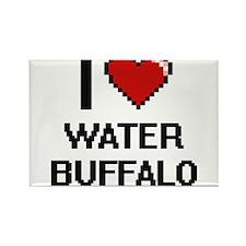 I love Water Buffalo digital design Magnets