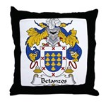 Betanzos Family Crest Throw Pillow
