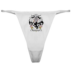 Betancourt Family Crest Classic Thong