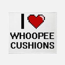 I love Whoopee Cushions digital desi Throw Blanket
