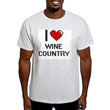 I love Wine Country digital design T-Shirt