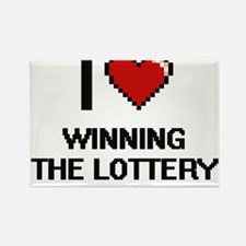I love Winning The Lottery digital design Magnets