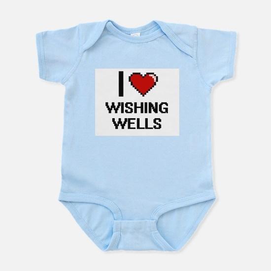 I love Wishing Wells digital design Body Suit