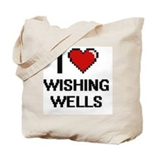 I love Wishing Wells digital design Tote Bag