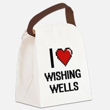 I love Wishing Wells digital desi Canvas Lunch Bag