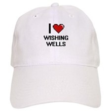 I love Wishing Wells digital design Baseball Cap