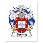 Bernuy Family Crest Small Poster