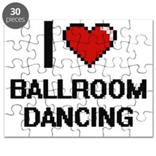I love Ballroom Dancing digital design Puzzle
