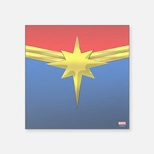 "Captain Marvel Square Sticker 3"" x 3"""