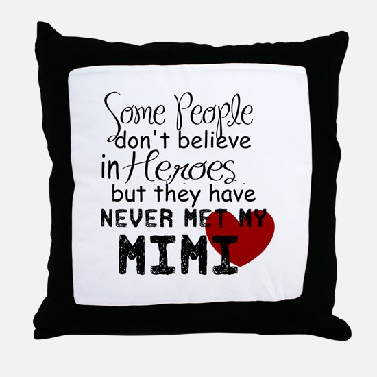 Mimi Heroe Throw Pillow