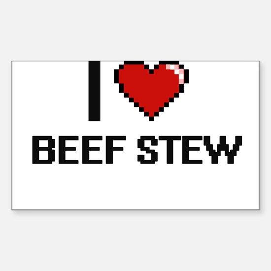 I love Beef Stew digital design Decal