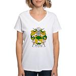 Bermejo Family Crest Women's V-Neck T-Shirt