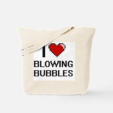 I love Blowing Bubbles digital design Tote Bag