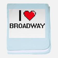 I love Broadway digital design baby blanket