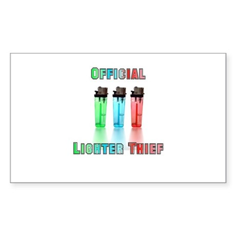 Official Lighter Thief Rectangle Sticker