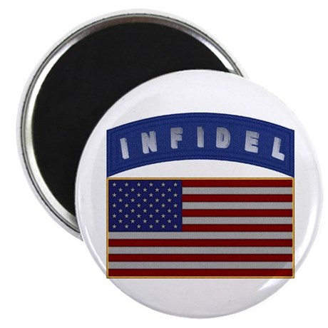 American Infidel Patch Magnet