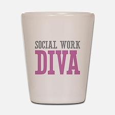 Social Work DIVA Shot Glass