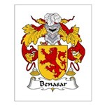 Benasar Family Crest Small Poster