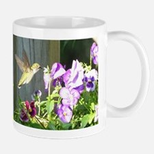 Pansy Hummingbird Mugs