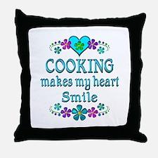 Cooking Smiles Throw Pillow