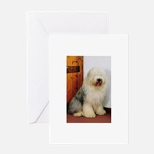 Old English Sheepdog Photo Greeting Card