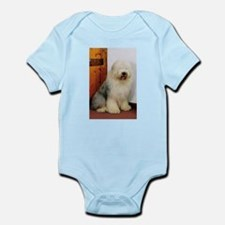 Old English Sheepdog Photo Infant Bodysuit