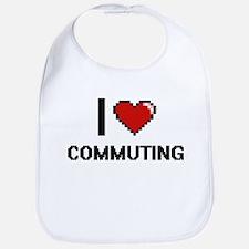 I love Commuting digital design Bib