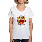 Bellver Family Crest Women's V-Neck T-Shirt
