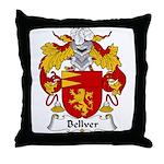 Bellver Family Crest Throw Pillow