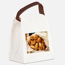 Basket of Dinner Rolls Canvas Lunch Bag
