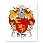Bellver Family Crest Small Poster