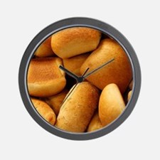Basket of Dinner Rolls Wall Clock