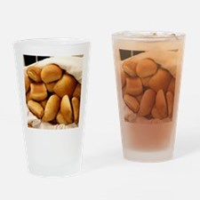 Basket of Dinner Rolls Drinking Glass