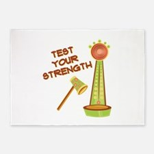 Test Your Strength 5'x7'Area Rug