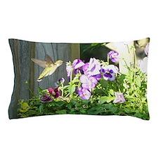 Pansy Hummingbird Pillow Case
