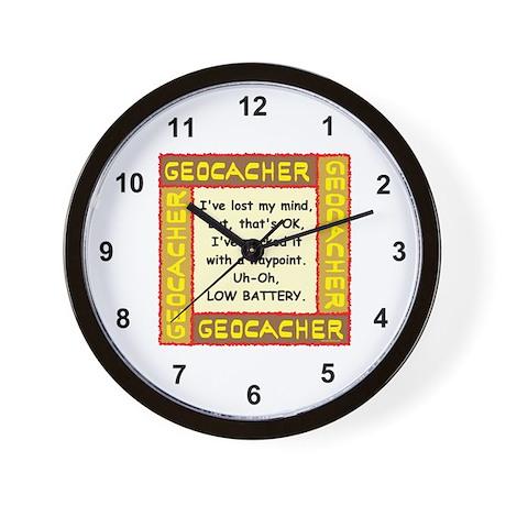 Brown Geocacher Lost Mind Wall Clock