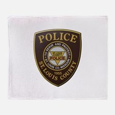 St Louis County Police Throw Blanket