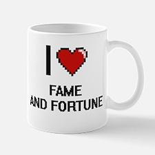 I love Fame And Fortune digital design Mugs