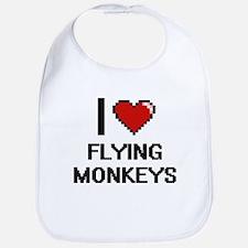 I love Flying Monkeys digital design Bib