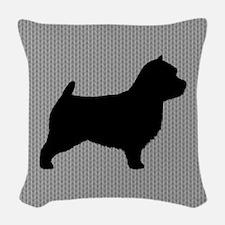 Norwich Terrier Woven Throw Pillow