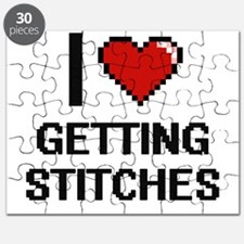 I love Getting Stitches digital design Puzzle