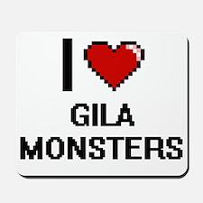 I love Gila Monsters digital design Mousepad
