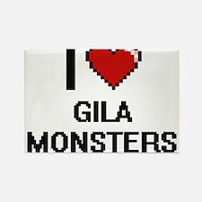 I love Gila Monsters digital design Magnets