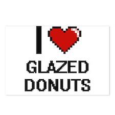 I love Glazed Donuts digi Postcards (Package of 8)