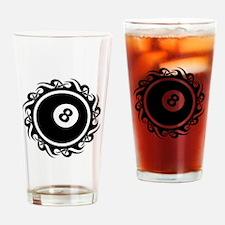 Cute 8ball Drinking Glass
