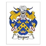 Becquer Family Crest Small Poster